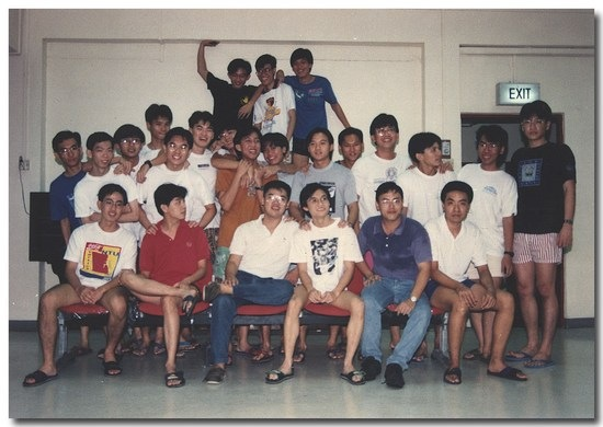 blog-1993 - NTU - Hostel - 01 - with floormates for hall yearbook